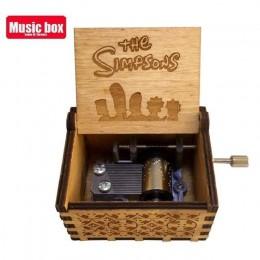 Caja de madera envejecida tallada con manivela de mano para Juego de tronos, caja de música para cumpleaños, regalo de cumpleaño