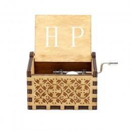 20 tipos de madera envejecida tallada manivela de mano caja de música Davy Jones Star Wars tema caja de música regalo de cumplea