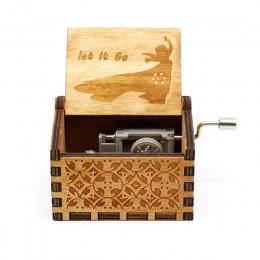 Caja de música de Juego de tronos de Star Wars negra de madera tallada envejecida caliente con tema de manivela de mano regalo d