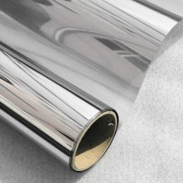 40/50/60 cm x 400cm una forma espejo ventana película vidrio reflectante al sol pegatina plata capa tinte habitación decoración