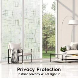 Múltiples tamaños disponibles película de vidrio autoadhesiva adhesiva de PVC estática, pegatinas de cubierta de ventana de deco