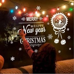 Navidad copo de nieve estática adhesiva de cristal reutilizable pegatina estática extraíble para la decoración de la fiesta de l