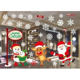 DIY Navidad ventana película vidrio pegatina halloween electrostática ventana pegatina adornos navideños para el hogar Año Nuevo