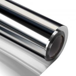 Ancho 60/70/80/90 cm longitud 400 cm unidireccional con espejo reflectante película de ventana, autoadhesiva privacidad tinte de