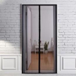 210X100 cm manos libres magnético verano antimosquitos cortinas cifrado mosquitero en la puerta imanes cortina de la puerta