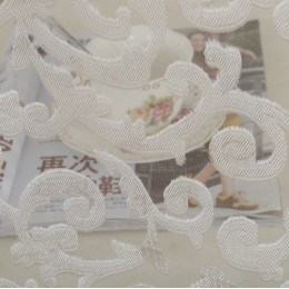 Napeel estilo europeo jacquard diseño hogar decoración moderna cortina tul telas organza sheer panel ventana tratamiento blanco