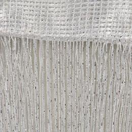 Cortina de cristal de lujo de 200x100 cm línea de Flash brillante cortina para puerta con cadena de borlas ventana divisor de ha