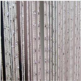 Cortina de cadena de puerta 100cm X 200cm brillante borla Flash línea puerta ventana cortina cenefa divisor decorativo para fies