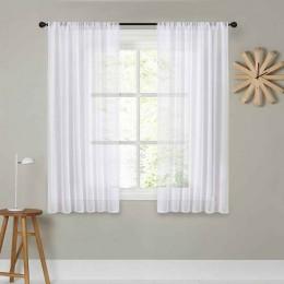 CDIY corto cortinas para la cocina sólido Voile cortinas de la habitación de dormitorio moderno cortinas ventana cortinas decora