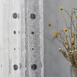 Topfinel novedad nido de pájaro moderno elegante bordado cortinas para la cocina Tul para la ventana Red tul para el dormitorio