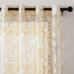 Paneles de cortina transparentes de ventana moderna geométricos Topfinel para sala de estar persianas de cocina de dormitorio co