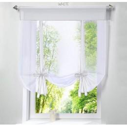 Ventana voladora tul hilo de cocina cortinas de pantalla para sala de estar divisor hogar transparente cortina cortinas ventana