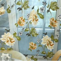 Napeel nuevo Clásico flor cortina ventana pantalla personalizar productos terminados púrpura tul cortina