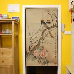 XIAOKENAI 85x120cm 85x150cm tradicional chino decorativo puerta cortina puerta cortinas decoración del hogar divisor para dormit