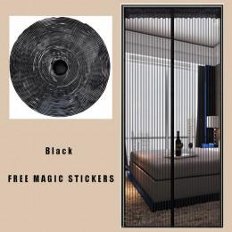 Cortina de Puerta Mosquitera contra insectos/moscas malla de malla magnética de verano con pegatinas mágicas para Puerta de Mosq