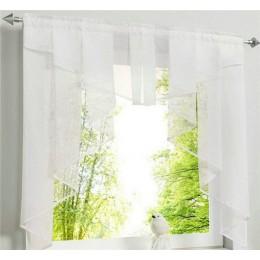 Cortina de cocina de tul volador para ventana balcón Roma diseño plisado costura colores Voile cortina pura cortinas de hilo bla