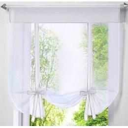 Moderna ventana corta cocina cortina de gasa de tul para sala de estar divisor hogar transparente cortina cortinas ventana gasa
