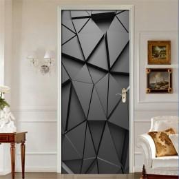 Pegatinas de puerta DIY 3D Mural para sala de estar dormitorio decoración para el hogar póster PVC autoadhesivo impermeable crea