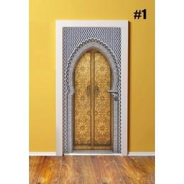Decoración del hogar DIY puerta PVC impermeable 3D impresión ambiental clásico patrón de protección Pegatina autoadhesiva arte p
