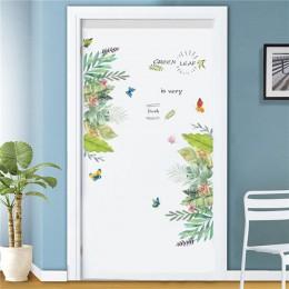 Tamaño personalizado/77*200 CM etiqueta de la puerta de la torre DIY impermeable autoadhesivo pegatinas de papel pintado en las