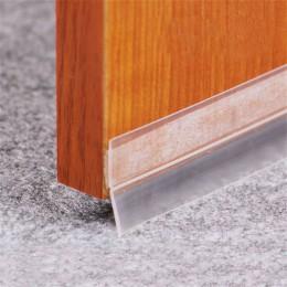 Pegatinas de suelo práctico transparente a prueba de viento de silicona cinta de sellado de la puerta de la barra adhesivo durad
