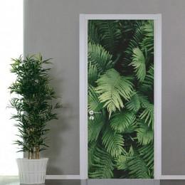 PVC autoadhesivo etiqueta 3D planta verde hojas Papel pintado sala De estar dormitorio decoración del hogar etiquetas De la puer