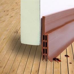 Barredor de puerta descascarilladora a prueba de ruido goma parte inferior sello tira tapón Draught Excluder protege tu puerta d