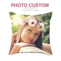 Funda de cojín personalizada Fuwatacchi, funda de cojín personalizada para el hogar, funda de almohada cuadrada estampada, cojín