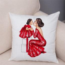 Funda de cojín de dibujos animados lindos de moda para mamá y bebé funda de almohada de felpa corta decoración para sofá funda d