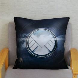 Super Hero Logo suave funda de felpa para cojín dibujos animados Marvel impresión del Iron Man Fundas de cojín para sofá funda d