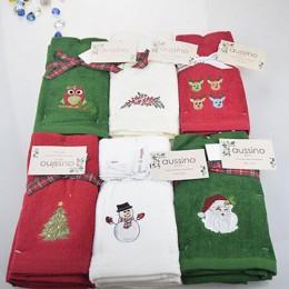Nuevo juego de toallas de mano decorativas de lujo, toalla de Navidad, toalla bordada de Papá Noel, muñeco de nieve, toallas de