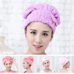 Nuevo 5 colores coloridos gorro de ducha toallas para envolver sombreros de baño de microfibra sólido superfino sombrero para el