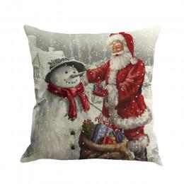 Nueva Navidad almohada Festival estampado de Papa Noel teñido sofá cama para decoración de hogar funda de almohada dormitorio Na