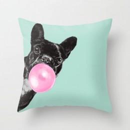 Funda decorativa para cojines de unicornio de animales de dibujos animados funda de cojín decoración del hogar jirafa sofá coche