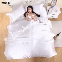 ¡Caliente! Juego de cama 100% de seda de satén puro, juego de cama de tamaño King para el hogar, ropa de cama, funda de edredón,