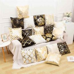 Funda de almohada de poliéster con letras doradas funda de cojín de cintura de coche sofá almohada de moda camuflaje absorber el